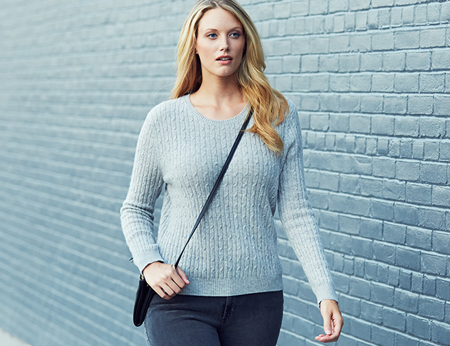 Plus Size: Cashmere Sweaters & More at MYHABIT