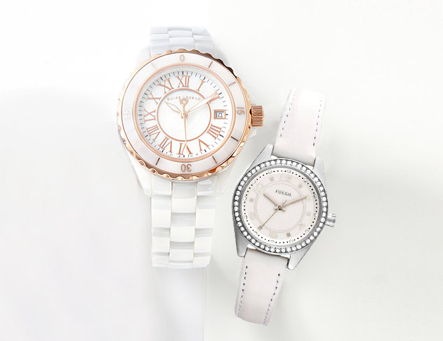 Post Labor Day Chic: White Watches at MYHABIT
