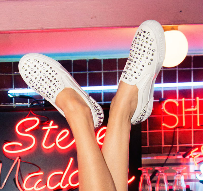 Peace Love Shea x STEVE MADDEN T-FAIRFAX Sneaker in White_1