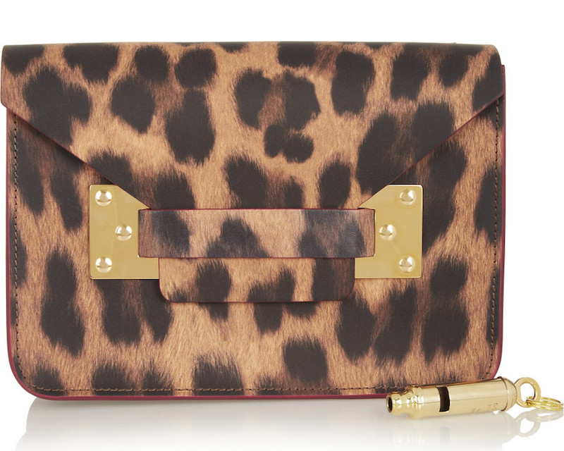 Sophie Hulme Envelope Mini Leopard-print Leather Shoulder Bag