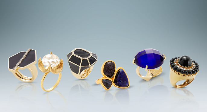 Statement-Making Rings at Gilt