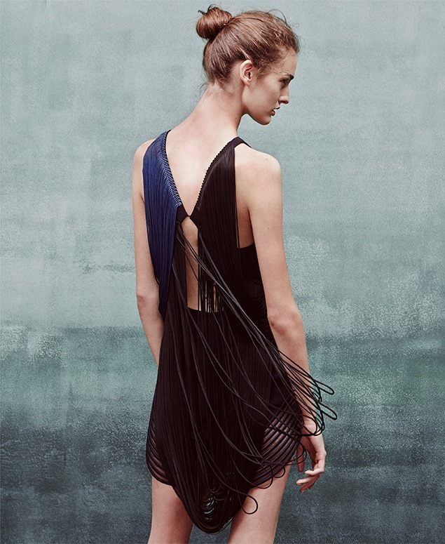 Stella McCartney Hadley Backless Tassel Dress