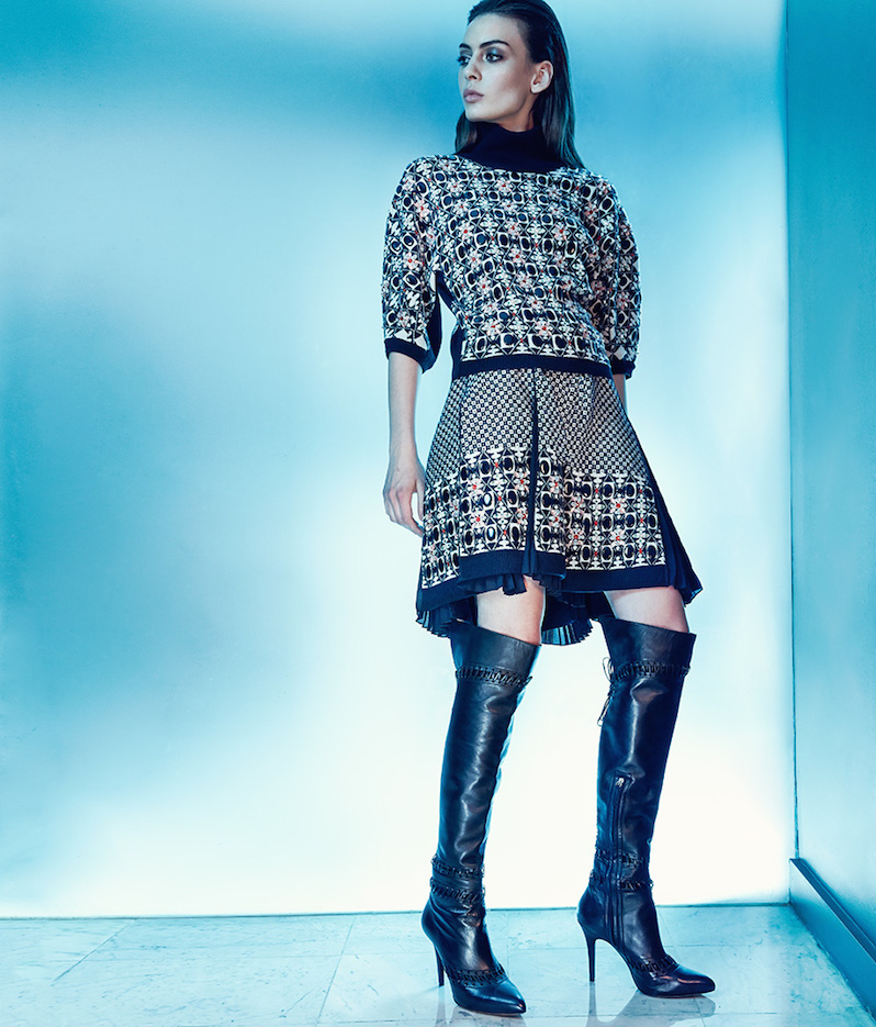 Tabitha Simmons Grayden Stitched Leather Over-The-Knee Boots