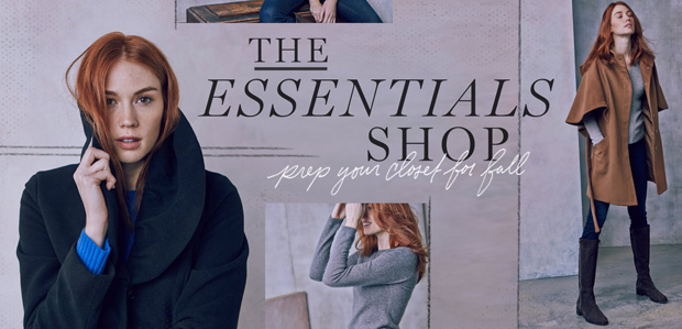 The Essentials Shop: Prep Your Closet for Fall at Rue La La