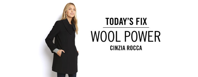 Today's Fix- Cinzia Rocca Wool Coat at Rue La La