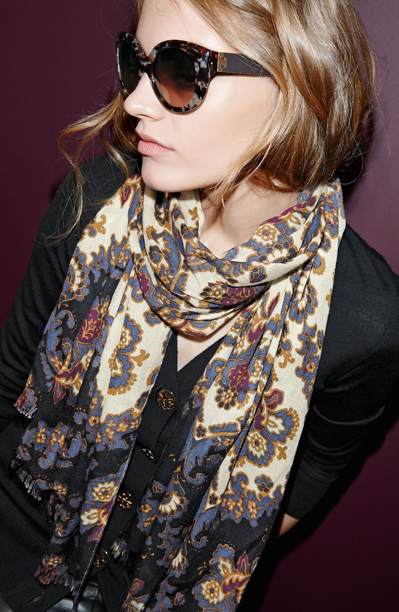 Tory Burch Printed Damask Scarf