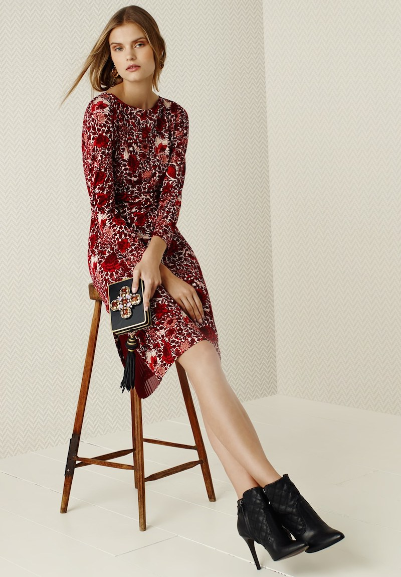 Tory Burch Ria Floral Print Shift Dress