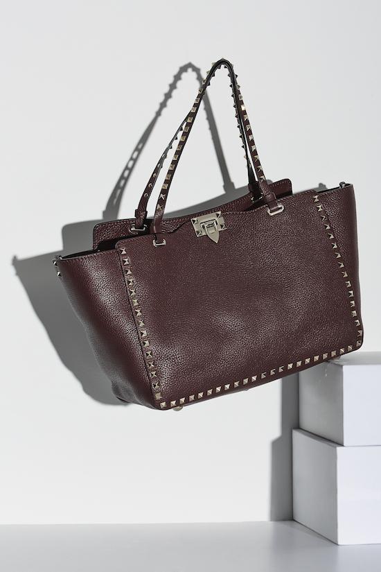 Valentino Medium Rockstud Trapeze Bag