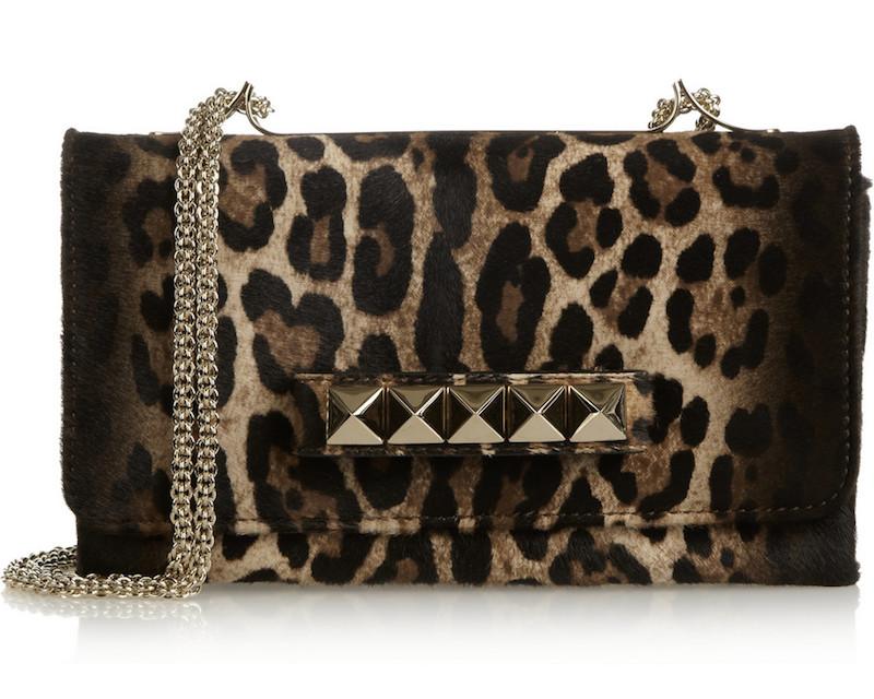 Valentino Va Va Voom Leopard-print Calf Hair Shoulder Bag