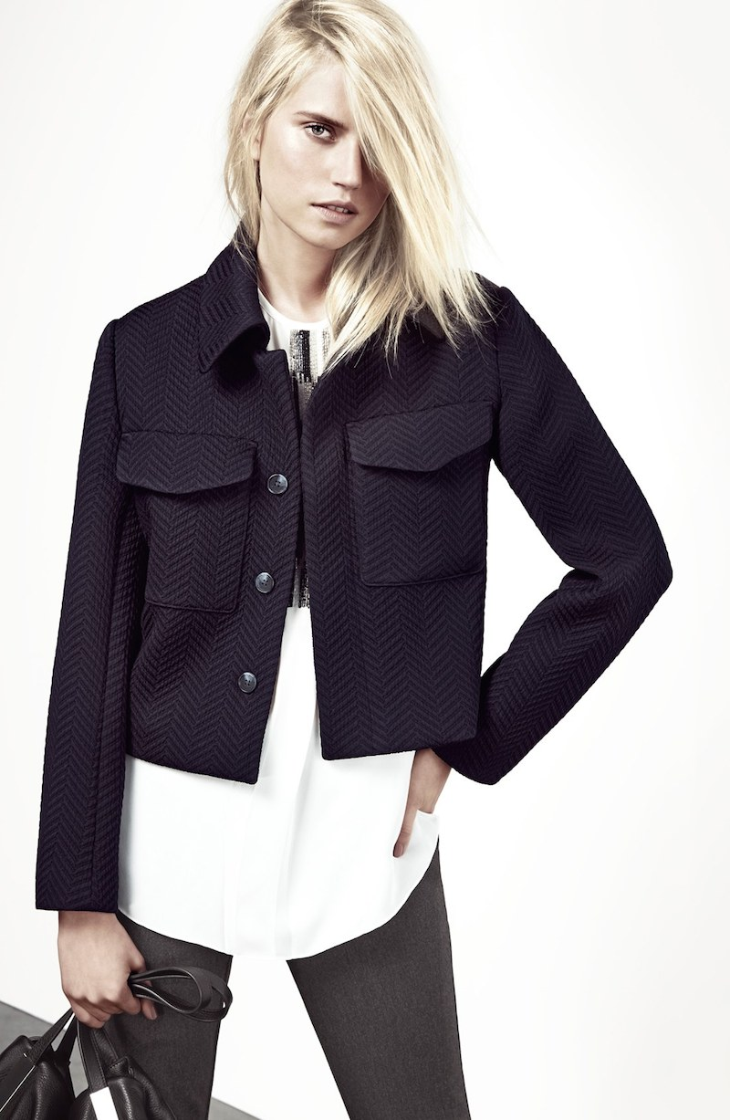 Vince Camuto Flap Pocket Crop Jacket