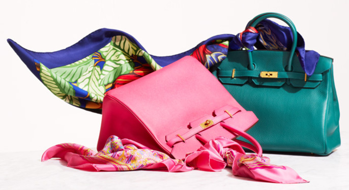 Vintage Hermès Accessories in Bold Hues at Gilt