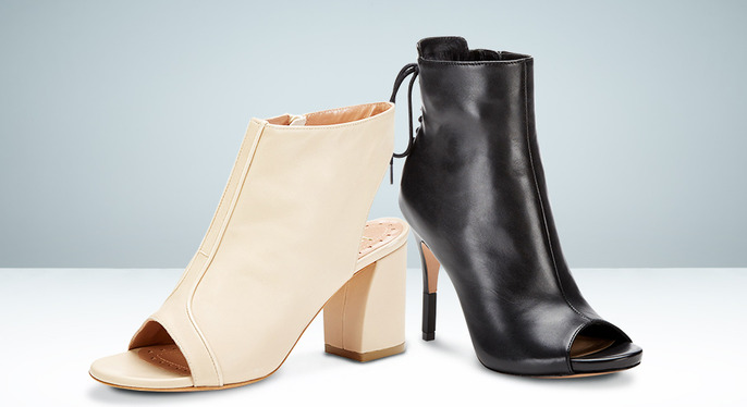 Wear Now: Peep-Toe Booties at Gilt