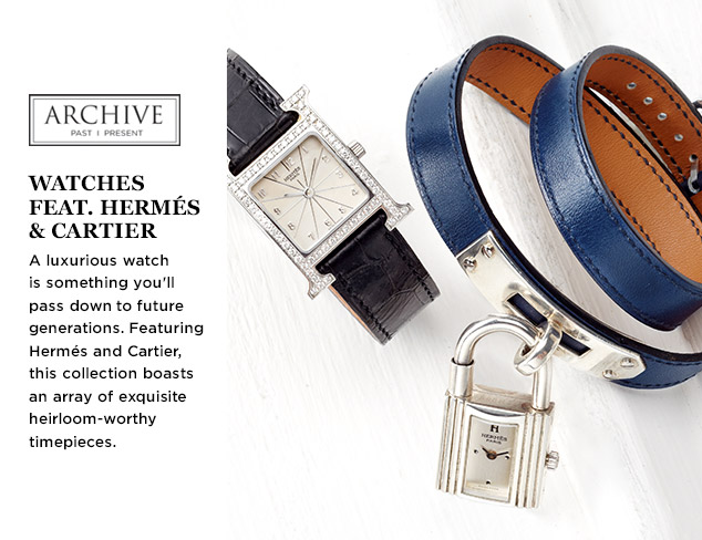 ARCHIVE: Watches feat. Hermés & Cartier at MYHABIT