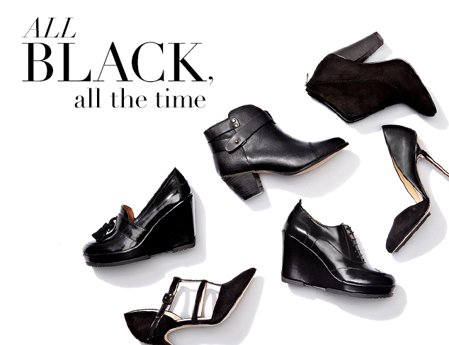 All Black, All the Time: Shoes at MYHABIT