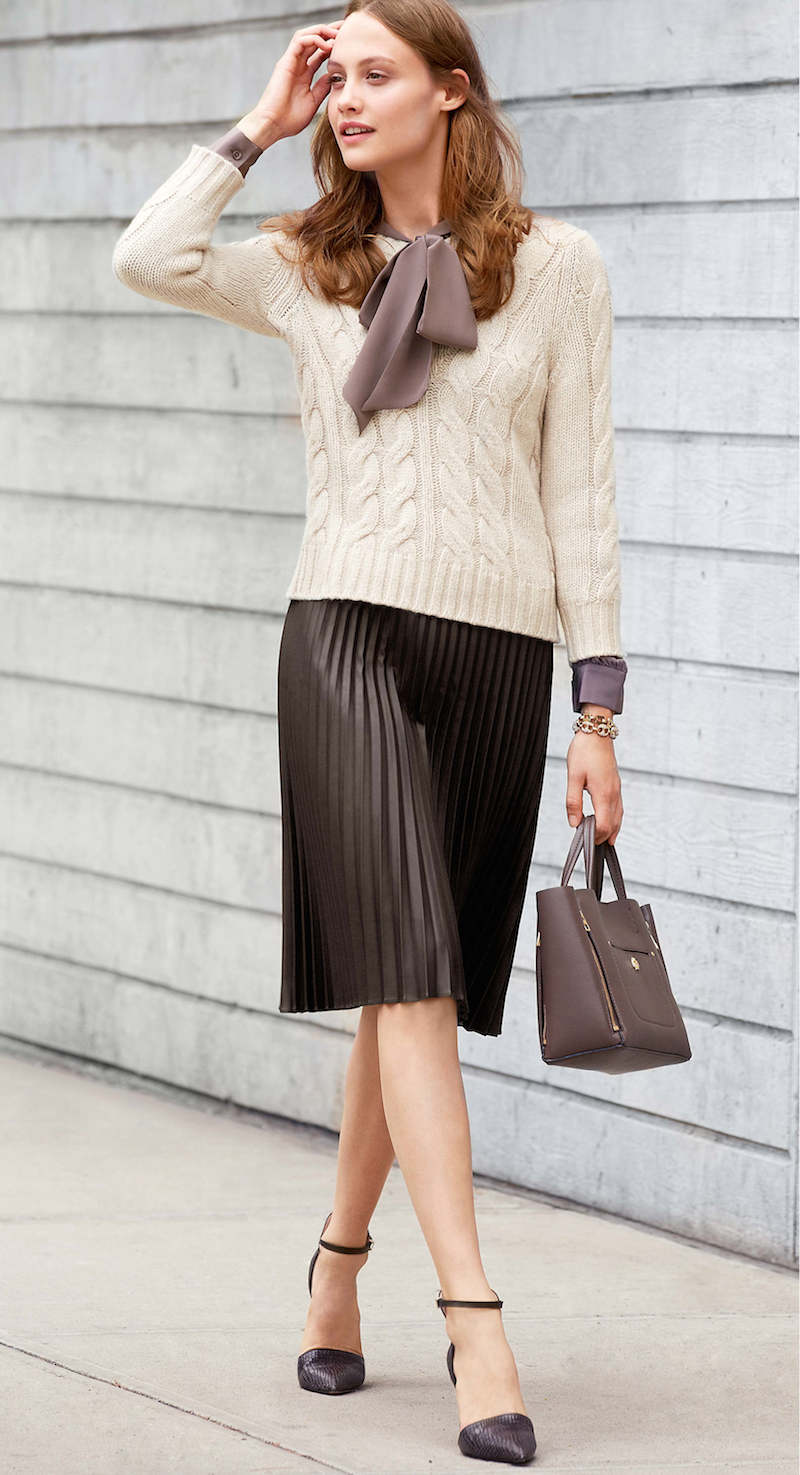 Ann Taylor Cropped Cable Sweater