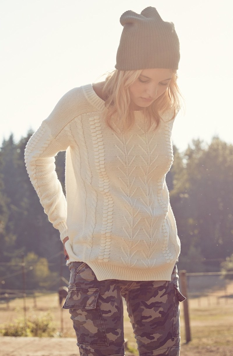 BP. Cable Knit Pullover