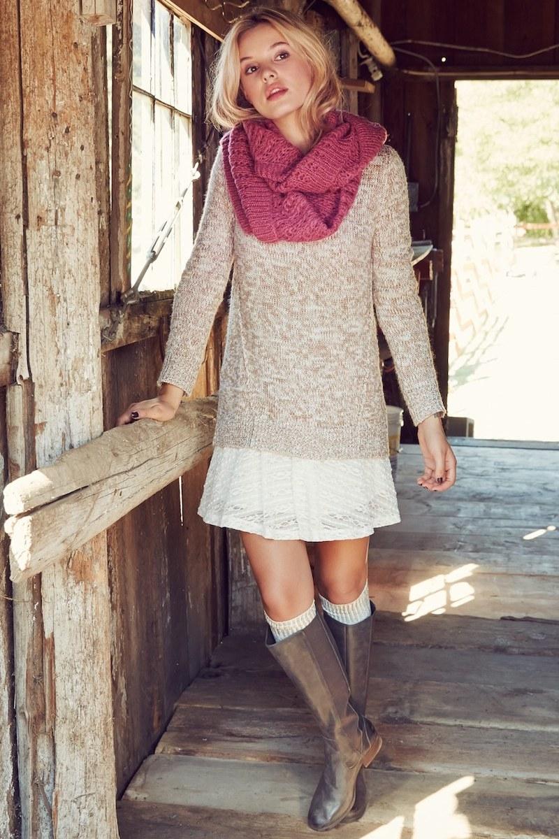 BP. Marled Forward Seam Sweater