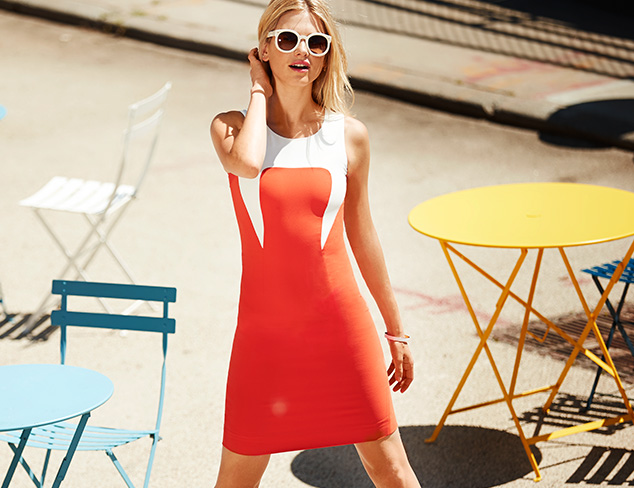 Bold Contrast: Colorblock Dresses, Tops & More at MYHABIT