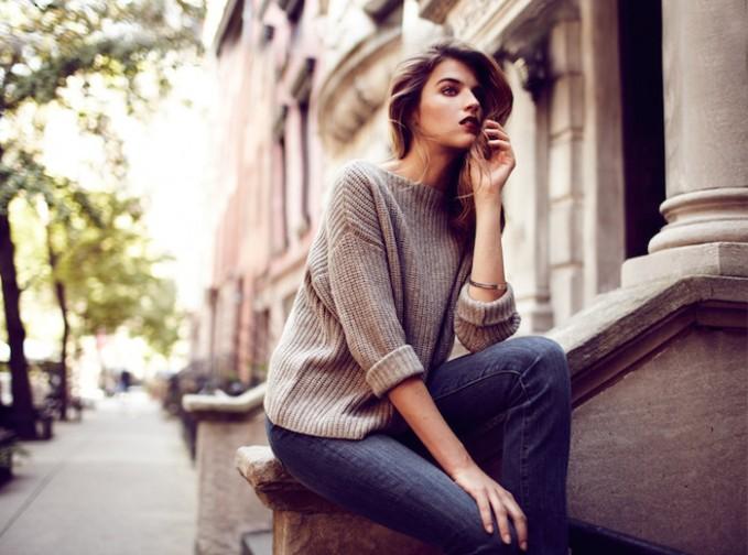 Boyfriend Sweater + Skinny Jeans