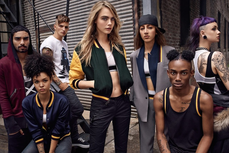 Cara Delevingne for DKNY Capsule Collection Campaign