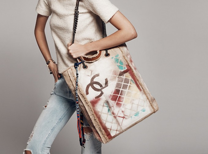 Chanel Limited Edition Large Graffiti Tote