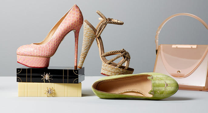 Charlotte Olympia Shoes & Handbags at Gilt