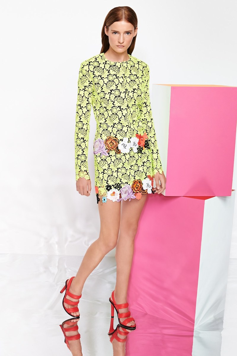 Christopher Kane Embroidered Floral Lace Jacket