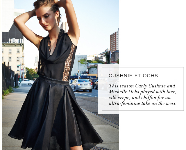 Cushnie et Ochs Georgette and Lace Top