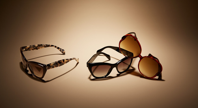 Designer Sunglasses Feat. Prada at Gilt