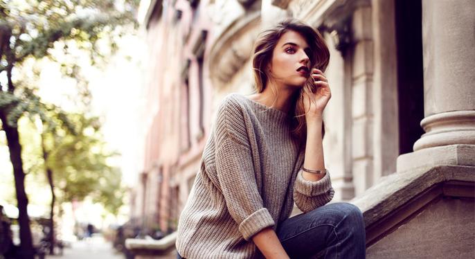 Fashion Math: Boyfriend Sweater + Skinny Jeans at Gilt