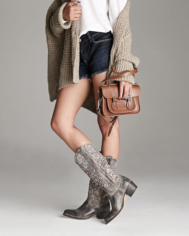 Frye Deborah Studded Vintage Leather Boot