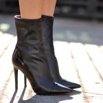 GUESS Oblong Mid-Calf Pointed-Toe Booties