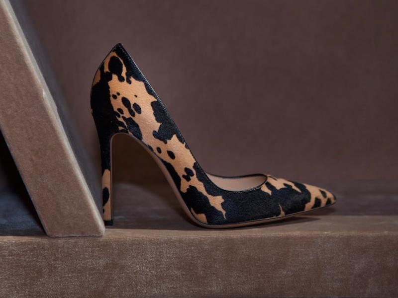 Gianvito Rossi Cow-Print Haircalf Pumps