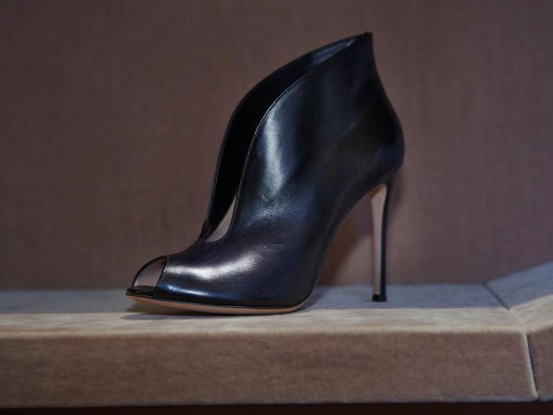 Gianvito Rossi Split-Front Ankle Boots