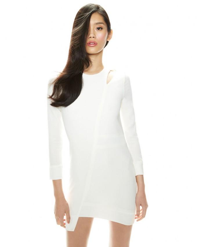 IRO Polina Mesh/Crepe Combo Dress