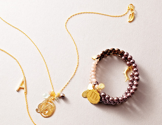 It's Personal: Initial & Zodiac Jewelry at MYHABIT