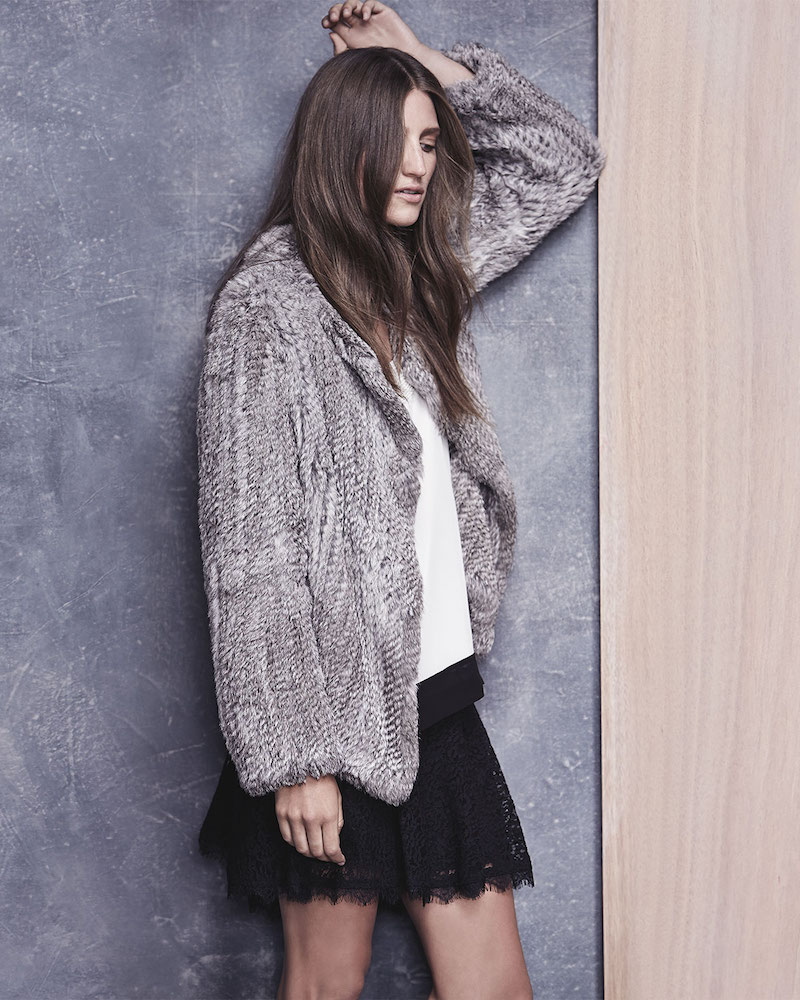 Joie Aviana Rabbit Fur Jacket