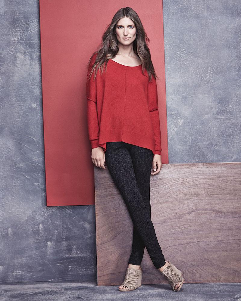 Joie Narcisse Raised-Seam Loose Sweater
