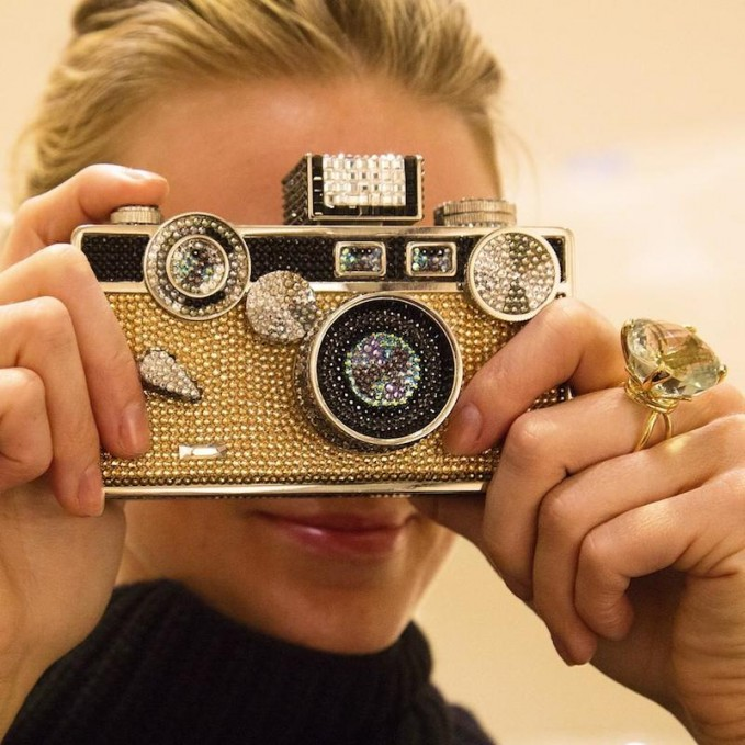 Judith Leiber Couture Camera Crystal Minaudiere