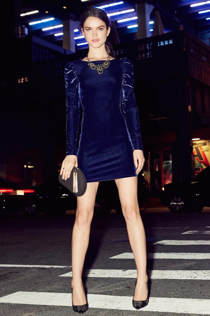 Leith Velour Body-Con Dress