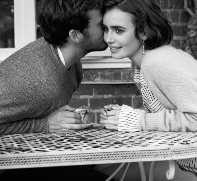 Love Stories Lily Collins and Sam Claflin for The EDIT_6