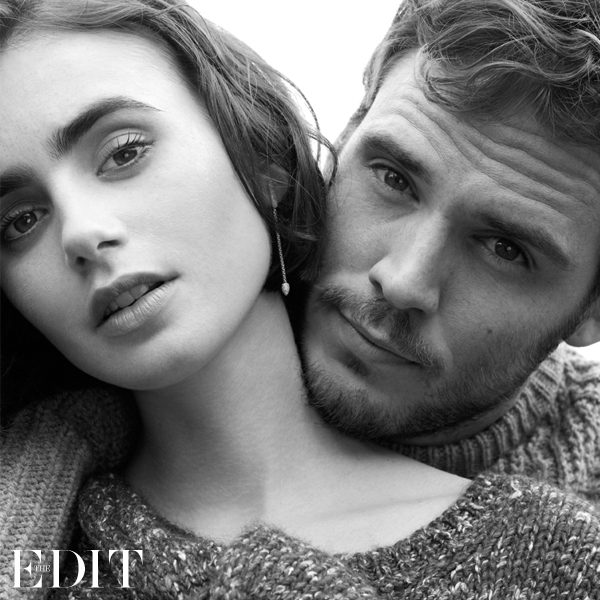 Love Stories Lily Collins and Sam Claflin for The EDIT_8