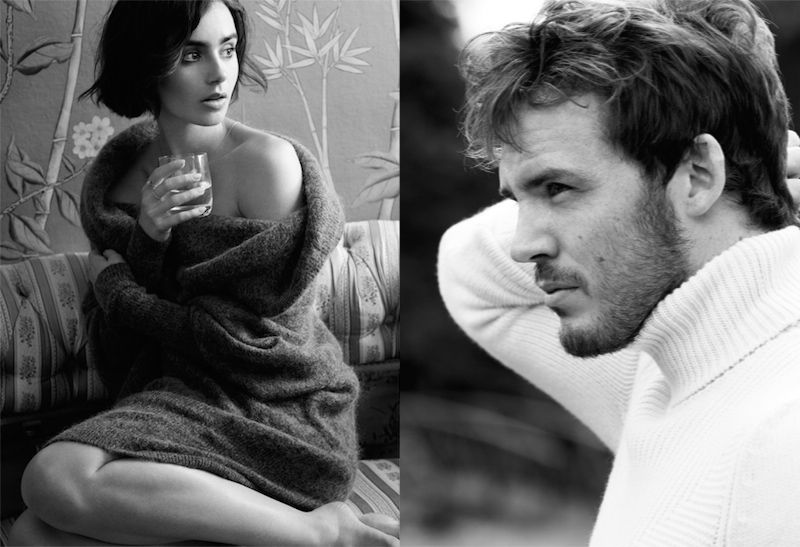 Love Stories Lily Collins and Sam Claflin for The EDIT_9