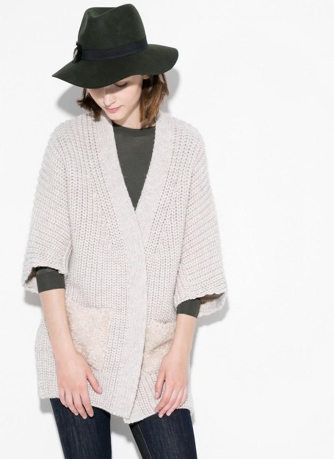 MANGO Alpaca Wool-blend Cardigan