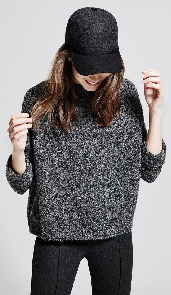 MANGO Bouclé-knit Wool-blend Sweater