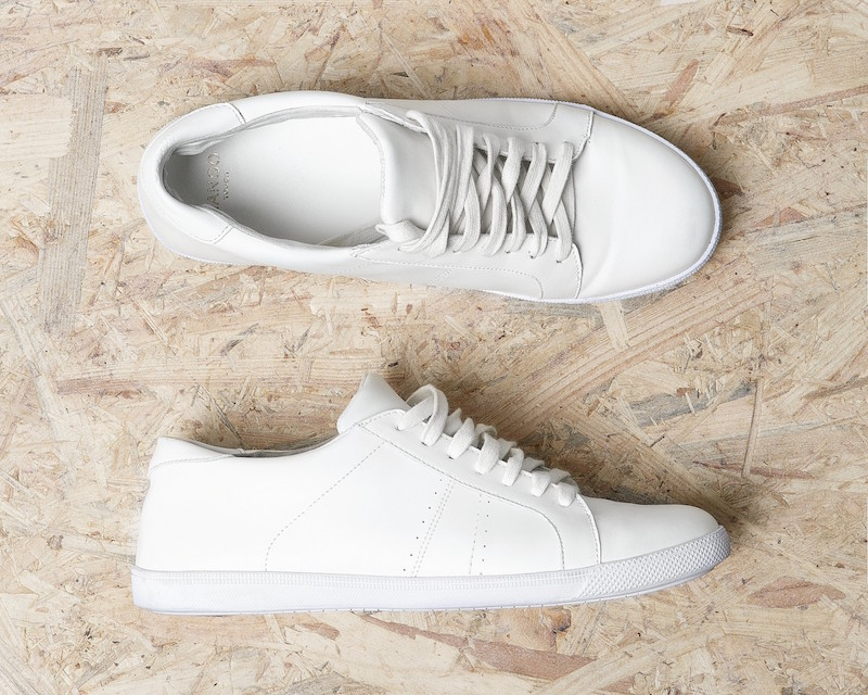 MANGO Lace-up Leather Sneakers