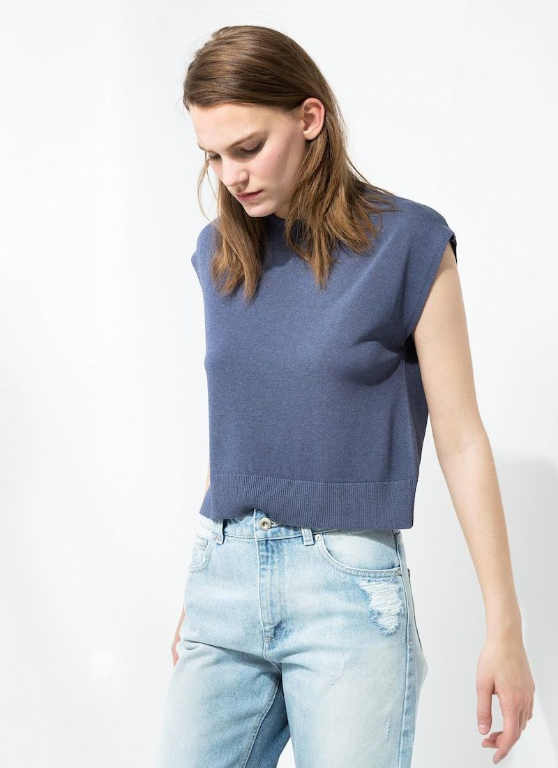 MANGO PREMIUM Cropped Sweater_1