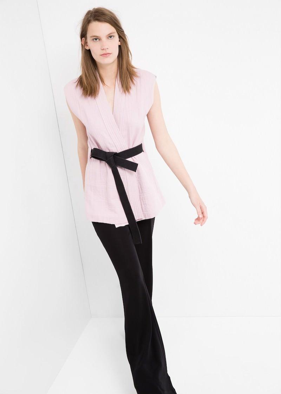 MANGO PREMIUM Kimono Style Gilet