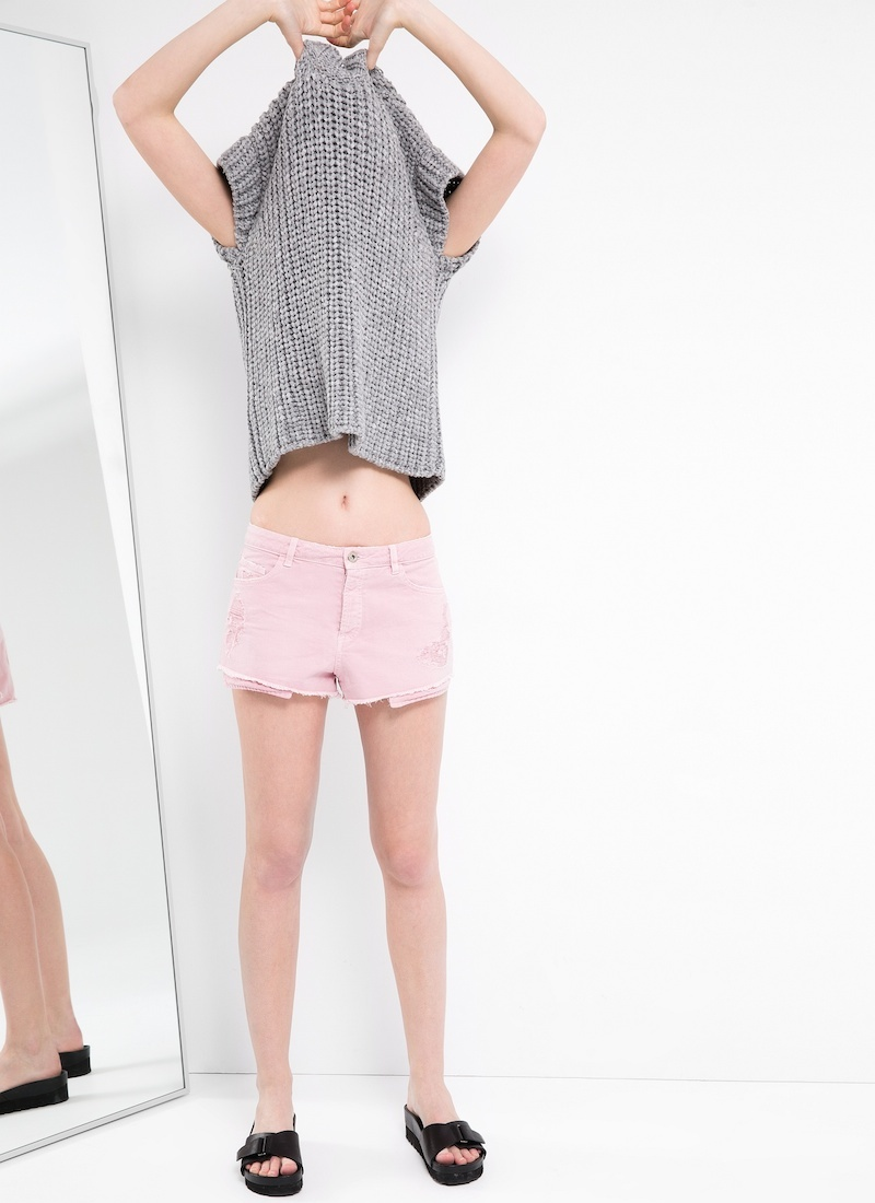 MANGO PREMIUM Mauve Denim Shorts