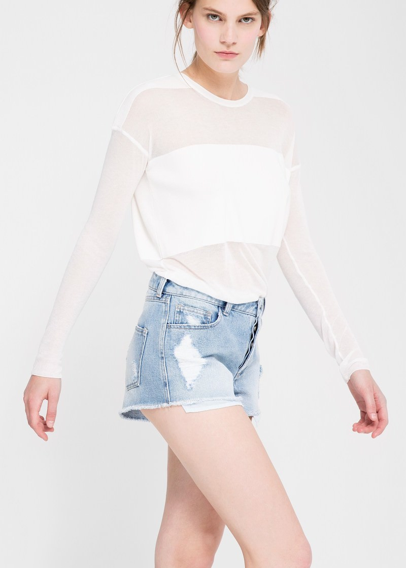 MANGO PREMIUM Medium Denim Shorts